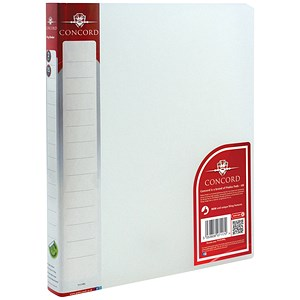 Image of Concord Natural Ring BInder / 2 O-Ring / 30mm Spine / 15mm Capacity / A4 /Clear / Pack of 10