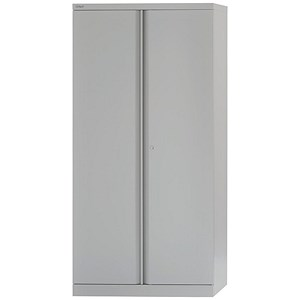 Image of Bisley Tall Steel Cupboard / 3 Shelves / Grey