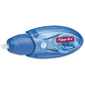 Image of Tipp-Ex Micro Tape Twist Correction Roller with Rotating Cap / 5mmx8m / Pack of 10