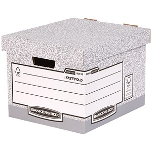 Image of Fellowes Bankers Box System Standard Storage Boxes / Foolscap / W333xD390xH285mm / Pack of 10