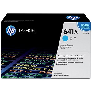 Image of HP 641A Cyan Laser Toner Cartridge