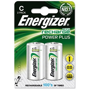 Image of Energizer Advanced Rechargeable Battery / NiMH 2500mAh HR14 1 / 1.2V / C / Pack of 2