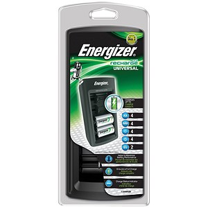 Image of Energizer Universal Battery Charger with Smart LED - 2-5Hrs Charging Time for AAA, AA, C, D, 9V