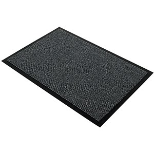 Image of Floortex Door Mat / Dust & Moisture Control / Polypropylene / 900mmx1200mm / Grey