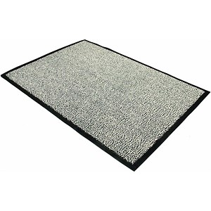 Image of Floortex Door Mat / Dust & Moisture Control / Polypropylene / 600mmx900mm / Grey