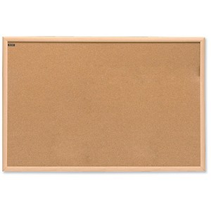Image of Nobo Classic Office Noticeboard / Cork / Natural Oak Finish / W900xH600mm
