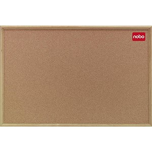 Image of Nobo Classic Noticeboard / Cork / Natural Oak Finish / W1800xH1200mm