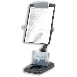 Image of Fellowes Weighted Base Multipositional Copyholder / Landscape & Portrait / Graphite