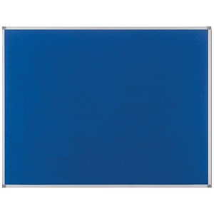 Image of Nobo Classic Noticeboard / Felt / Aluminium Trim / W1800xH1200mm / Blue