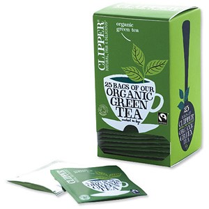 Image of Clipper Organic Fairtrade Green Tea Bags - Pack of 25