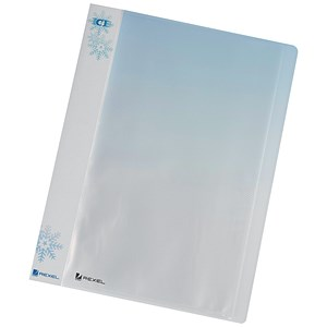 Image of Rexel Ice Display Book / 40 Pockets / A4 / Clear Covers / Pack of 10