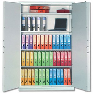 Image of Phoenix Firechief Security Cupboard Fire Resistant 764 Litre Capacity 230kg W1200xD525x1885mm Ref FS1613K