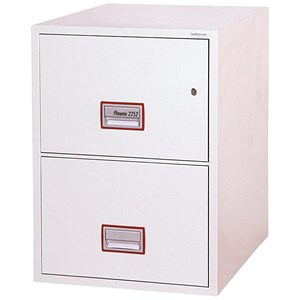 Image of Phoenix Firefile Filing Cabinet Fire Resistant 2 Lockable Drawers 145Kg W530xD675xH805mm Ref FS2252K