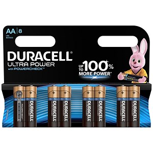 Image of Duracell Ultra Power MX1500 Alkaline Battery / 1.5V / AA / Pack of 8