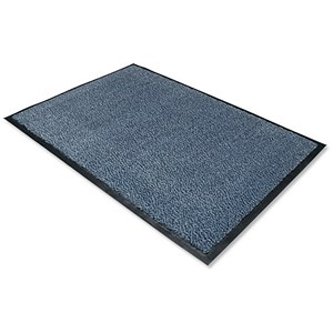 Image of Floortex Door Mat / Dust & Moisture Control / Polypropylene / 600mmx900mm / Blue