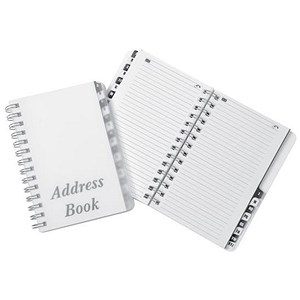 Image of Wirebound Clear Cover Telephone Address Book / 16 Part / A-Z / 185x125mm