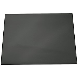 Image of Durable Desk Mat with Transparent Overlay / W650xD520mm / Black