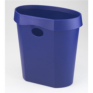 Image of Avery DR500 Waste Bin / Rim Flat Back / 18 Litres / W350xD250xH340mm / Blue