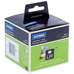 Image of Dymo Labelwriter Labels 3.5 inch Diskette 54x70mm White Ref 99015 S0722440 [Pack 320]