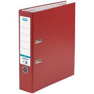 Image of Elba A4 Lever Arch Files / PVC / 70mm Spine / Red / Pack of 10