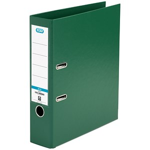 Image of Elba A4 Lever Arch Files / PVC / 70mm Spine / Green / Pack of 10