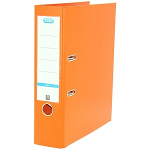Image of Elba A4 Lever Arch Files / PVC / 70mm Spine / Orange / Pack of 10