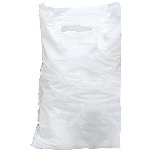 Image of Carrier Bags / Polythene / 30 microns / White / Pack of 500
