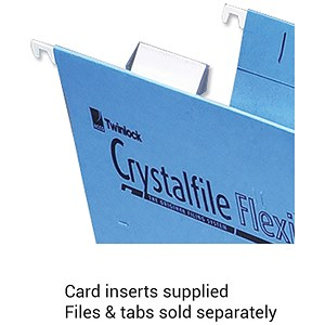 Image of Rexel CrystalFiles FlexiFiles Card Inserts for Suspension File Tabs / White / Pack of 50