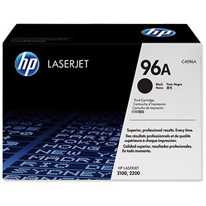Image of HP 96A Black Laser Toner Cartridge