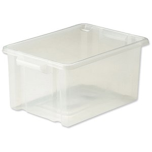 Image of Strata Storemaster Midi Crate / Clear / 14.5 Litre