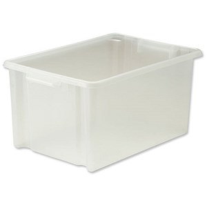 Image of Strata Storemaster Jumbo Crate / Clear / 48.5 Litre