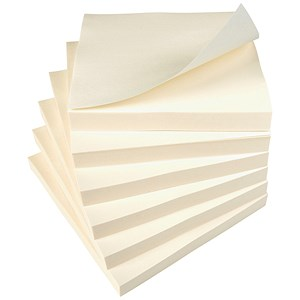 Image of Everyday Repositionable Sticky Notes / 76x76mm / Yellow / Pack of 12