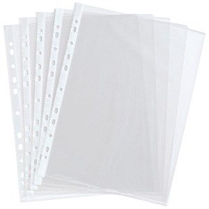 Image of Everyday Multipunched Pockets / 36 Microns / A4 / Clear / Pack of 100