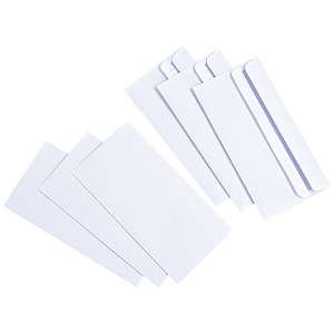 Image of Everyday DL Wallet Envelopes / White / Press Seal / 80gsm / Pack of 1000