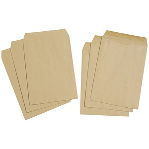 Image of Everyday Plain C4 Pocket Envelopes / Manilla / Press Seal / Pack of 250