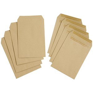 Image of Everyday Plain C5 Pocket Envelopes / Manilla / Press Seal / Pack of 500