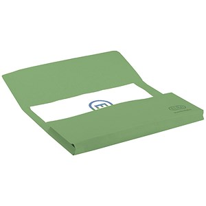 Image of Elba Manilla Document Wallet / 320gsm / Foolscap / Green / Pack of 25