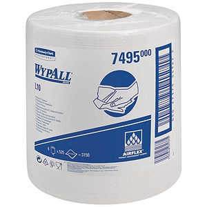 Image of Wypall L10 Centrefeed Wiper Refill / White / 6 Rolls of 525 Sheets