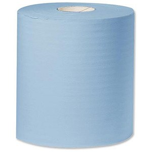 Image of Towel Roll Industrial Cleaning Towel Giant 2-Ply 312mmx350m Blue Ref Y04440