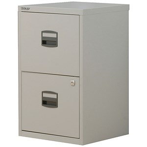 Image of Trexus SoHo 2-Drawer Filing Cabinet / A4 / Grey