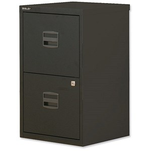 Image of Trexus SoHo 2-Drawer Filing Cabinet / A4 / Black