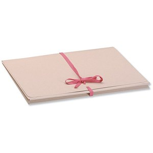Image of Guildhall Legal Wallets Merstham Manilla Pink Ribbon 315gsm 25mm Gusset Foolscap Ref 225Z [Pack 25]