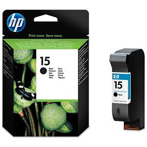 Image of HP 15 Black Ink Cartridge