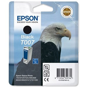 Image of Epson T007 Black Inkjet Cartridge
