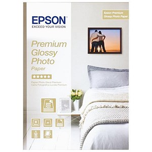 Image of Epson A3 Plus Premium Glossy Photo Paper / White / 255gsm / Pack of 20