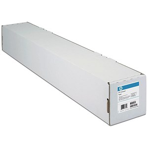 Image of HP DesignJet Inkjet Paper Roll / 610mm x 45.7m / Bright White / 90gsm / 24 inch
