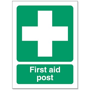 Image of Stewart Superior First-Aid Post Self Adhesive Sign Ref SP051PVC