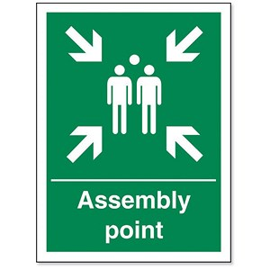 Image of Stewart Superior Fire Assembly Point Sign 150x200mm Polypropylene Ref SPO52PVC