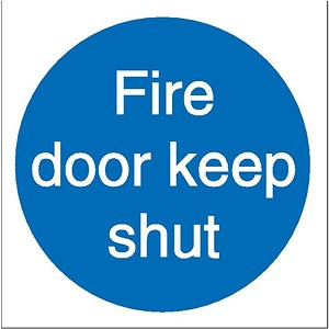 Image of Stewart Superior Fire Door Keep Shut Sav Self Adhesive Sign Ref M014SAV [Pack 5]