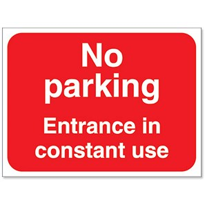 Image of Stewart Superior Outdoor No Parking Entrance In Use Sign Foamboard Ref FB041